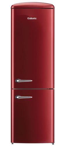 24 Inch Caloric Retro Refrigerator (Bordeau) Retro Refrigerator, Smeg Fridge, Small Fridge Freezer, Gorenje Retro, Vintage Fridge, New Kitchen, Kitchen Reno, Kitchen Ideas, Small Fridges