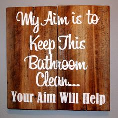 Funny Bathroom Barn Board Sign X By Chiccountrydesign On Etsy