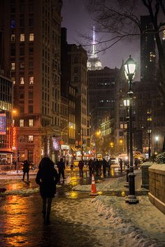 Union Square Park ~ Snowy Day NYC.