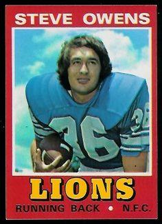 Steve Owens 1974 Wonder Bread football card Detroit Lions Football, Ou Football, Nfl Football Players, Detroit Sports, American Football, Football Trading Cards, Football Cards, Lion Kings, Cards