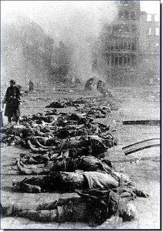 People of Dresden were reduced to charcoal by the Allied bombings