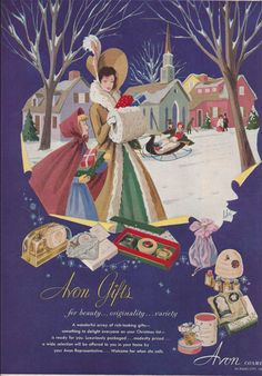 1950s Avon Christmas Ad from Magazine  by VictorianWardrobe, $4.00
