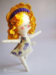 Clara  child friendly cotton and felt kids Doll by Cromanticamente, $37.00