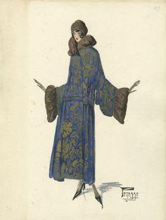 Maison Bernard, fashion illustration, 1923. Unknown artist. Bernard et C.ie, Paris. Photo: Kunstbibliothek der Staatlichen Museen zu Berlin - Preußischer Kulturbesitz