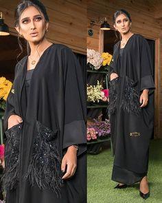 with ・・・ بنات اللي طالب. Abaya Fashion, Muslim Fashion, Modest Fashion, Fashion Outfits, Womens Fashion, Estilo Abaya, Orientation Outfit, Couture Coats, Kaftan Style