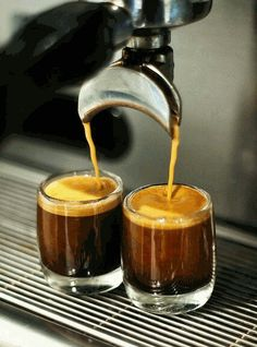 """on a cruise 2 years ago after dinner.my nephew says,thats your third espresso you'll be up for 3 days? I told him,""""Life is good! and the cruise is short but not with espresso"""" I Love Coffee, Coffee Art, Best Coffee, Coffee Break, My Coffee, Coffee Drinks, Coffee Cups, Coffee Maker, Drinking Coffee"""
