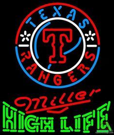 Miller High Life Texas Rangers Neon Sign MLB Teams Neon Light