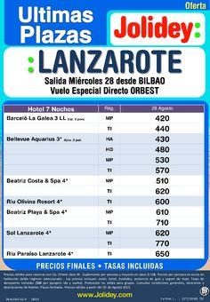 Últimas Plazas Agosto 7 Noches Lanzarote desde 420€ tax. incluidas. Salida dia 28 desde BIO - http://zocotours.com/ultimas-plazas-agosto-7-noches-lanzarote-desde-420e-tax-incluidas-salida-dia-28-desde-bio/
