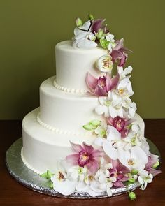 Orchid Cascade Cake - http://www.jacquespastries.com/weddingcakes/floral/floral.html#