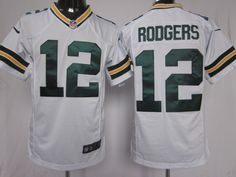 a3190374a Nike Youth Away Game Jersey Green Bay Aaron Rodgers  12
