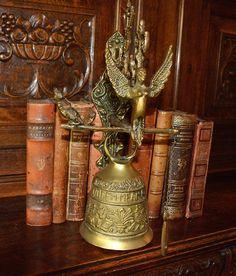 Antique French Heavy Brass Door Bell Stunning by VintageFleaFinds