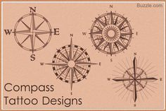 98 Best Compass Tattoo Designs In 2020 - Hairstyles Ideas Simple Compass Tattoo, Compass Tattoo Meaning, Compass Tattoo Design, Tattoos Skull, New Tattoos, Tatoos, Future Tattoos, Small Tattoos, Best Compass