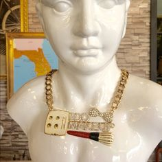 I do makeup bling necklace - ships from Palm beach Ships next day! Super bold statement necklace for makeup artists Jewelry Necklaces