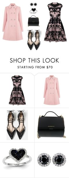 """""""Princess Pink"""" by lynnbin on Polyvore featuring Alexander McQueen, Oasis, Zara, Givenchy, Kevin Jewelers, women's clothing, women, female, woman and misses"""