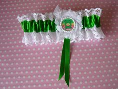 Green Lantern Super Hero Comic Geek Bride by RockababyBibsNBobz