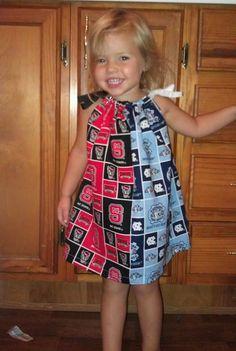 NC State/ECU House divided Pillowcase Dress by LexingtonAndMe on Etsy, $15.00