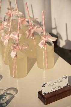 Home made lemonade bottles
