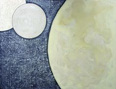 """Three Moons"", Encaustic, x Zen Art, Plates, Gallery, Licence Plates, Dishes, Griddles, Roof Rack, Dish, Plate"