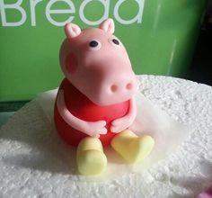 handmade peppa pig cake topper