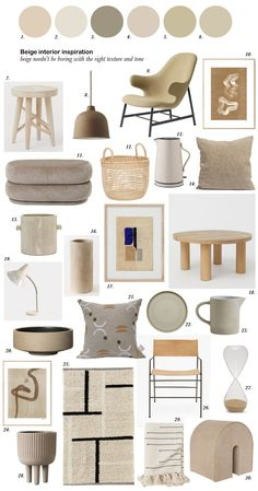 I'm sharing a few simple ways that you can use the beige interior trend in your own home, transforming this neutral hue from drab to cosy, rich and warm Beige Room, Beige Walls, Ideas Paneles, Interior Design Presentation, Deco Design, Interior Modern, Interior Inspiration, Moodboard Interior Design, Mood Board Interior