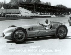 Mauri Rose wins Indy in 1947, and would repeat in 1948. The Indy cars of the day were stunning!