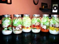 My Salad in a Jar <3