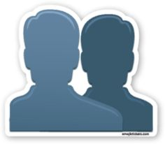 Busts in Silhouette | Emoji Stickers