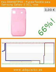 Ksix B8496FTP03 - Funda flexible para Samsung Galaxy S SCL, rosa (Accesorio). Baja 66%! Precio actual 3,00 €, el precio anterior fue de 8,90 €. https://www.adquisitio.es/ksix/funda-tpu-samsung-i9003-0