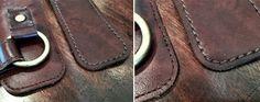 We care about the details - genuine leather, stitching, high quality thread. www.kawaprogear.com #genuineleather   popruh kožené pouzdro pro fotoaparát