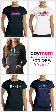 Boymom embraces the journey of moms raising boys. It's our badge of honor! For a limited time save 70% OFF all Boymom apparel during our New Year's Sale. Use code SALE70 when you checkout today. Shop Now!