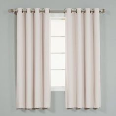 "Ivy Bronx Coolidge Basic Solid Blackout Thermal Grommet Curtain Panels Color: Baby Pink, Size: 52"" W x 90"" L"