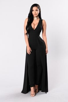- Available in Black and Ivory - Deep V - Back Zipper - Maxi Length Skirt - 95% Polyester, 5% Spandex