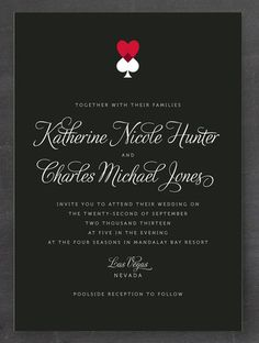 7 Unexpected Las Vegas Wedding Invitations