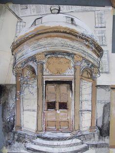 New drawing, 1 December 2012 Greyfriars Cemetery, Edinburgh