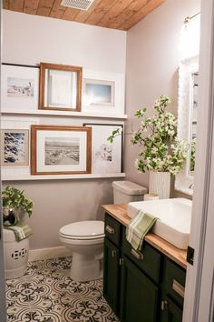 Bathroom makeover is needed when you really want to get new atmosphere and new look in your old bathroom. Bathroom is one of most important rooms in your home. You will not have perfect home without having good bathroom. When… Continue Reading → Powder Room Decor, Powder Room Design, Bathroom Pictures, Framed Pictures, Room Doors, Small Bathroom, Family Bathroom, Bling Bathroom, Cozy Bathroom
