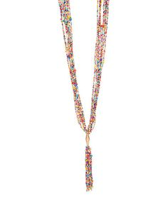 Look what I found on #zulily! Multicolor Beaded Tassel Pendant Necklace #zulilyfinds