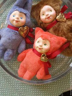 Коллекционные куклы ручной работы. Ярмарка Мастеров - ручная работа. Купить Тедди-долл. Handmade. Разноцветный, подарок женщине