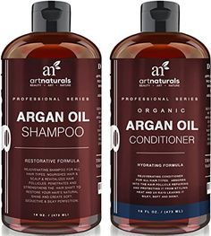 Art Naturals Organic Moroccan Argan Oil Shampoo and Conditioner Set x 16 Oz) - Sulfate Free - Volumizing & Moisturizing, Gentle on Curly & Color Treated Hair,For Men & Women Infused with Keratin - Online Shopping Discounts Diy Moisturizer, Natural Moisturizer, Natural Shampoo, Natural Oils, Argan Oil Conditioner, Good Shampoo And Conditioner, Argan Oil Skin Benefits, Argan Oil Hair, Hair Shampoo