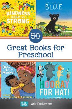 50 Great Books for Preschool Preschool Books, Preschool Classroom, Preschool Learning, Fun Learning, Kindergarten, Classroom Organisation, Classroom Libraries, We Are Teachers, Grey Kitten