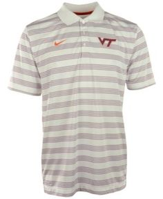 Nike Men's Virginia Tech Hokies Dri-fit Preseason Polo Shirt - White S