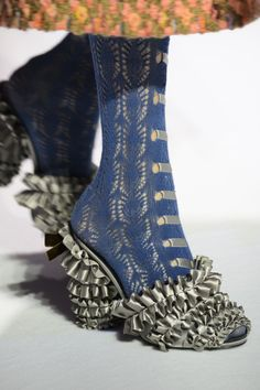 ruffles on open shoes Marc Jacobs