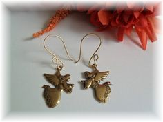Hand Stamped Polished Brass EarringsCherished by jmjcreations, $8.00