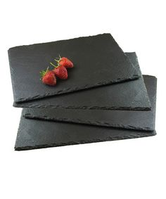 Black Slate Placemats: Set of Four