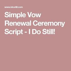 Looking for a sample of a religious vow renewal ceremony script to use for your ceremony? Here is a sample vow renewal script that with a message of faith. Vow Renewal Beach, Vow Renewal Ceremony, Wedding Renewal Vows, Wedding Ceremony, Wedding Readings, 30th Wedding Anniversary, Anniversary Photos, Anniversary Parties, Golden Anniversary