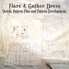 Let's talk drape dresses and how you can get the fit right in my FREE members area. Sampling the Flare and Gather Dress. Dress Sketches, Fashion Sketches, Dress Sewing Patterns, Draped Dress, Couture, Sewing Projects, Craft Projects, Pattern Making, Vintage Patterns