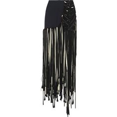 Esteban Cortazar Fringed ottoman-cady maxi skirt ($1,280) ❤ liked on Polyvore featuring skirts, navy, fringe maxi skirt, ankle length skirt, navy maxi skirt, maxi skirt and long navy skirt
