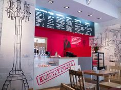 Klubokawiarnia Konstytucja in Warsaw Warsaw, Poland, Restaurants, Bar, Table, Furniture, Home Decor, Decoration Home, Room Decor