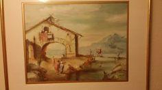Original Antoni Muntadas Oil Painting 1950-1969 Landscape Signed Spain Medium