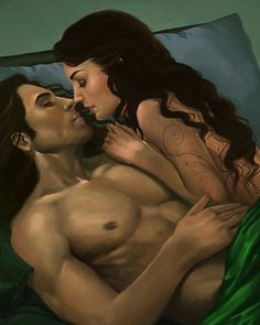 Lorcan Salvaterre and Elide Lochan [Art: Unknown] - #empireofstorms #lorcansalvaterre #elidelochan #elorcan