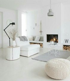 living room with white palette
